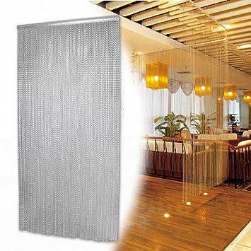 cortina para puerta de cadenas de de aluminio contra plagas de insectos