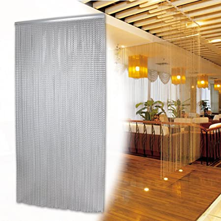 Large Metal Aluminium Chain Fly Pest Insect Door Screen Curtain Control