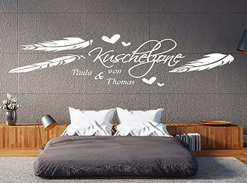 a pk97 wandtattoo schlafzimmer wandtatoo wohnzimmer wandtattoo name kuschelzone mit wunschnamen b140 x h39