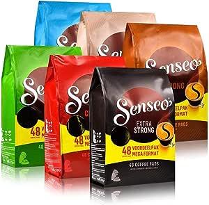 Senseo Coffee Pods, 6 Varieties, 288 Pads/Big Family Pack of 48 Servings
