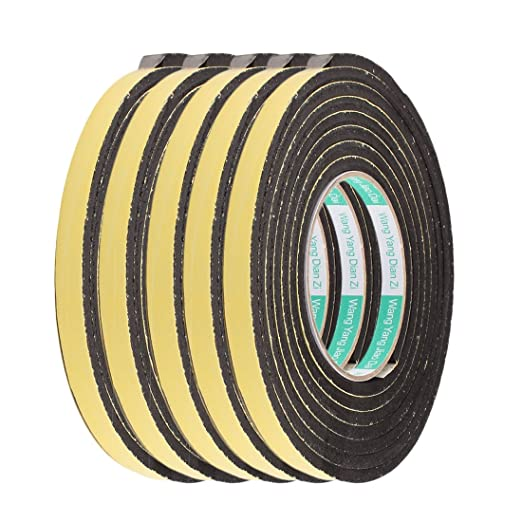 5Pcs 1.2CM Width 3 Meters Long 4MM Thick Single Side Seal Shockproof Sponge Tape