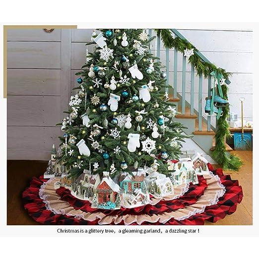 Yangyang Faldas de Árbol de Navidad 116cm Estera del Árbol Falda ...