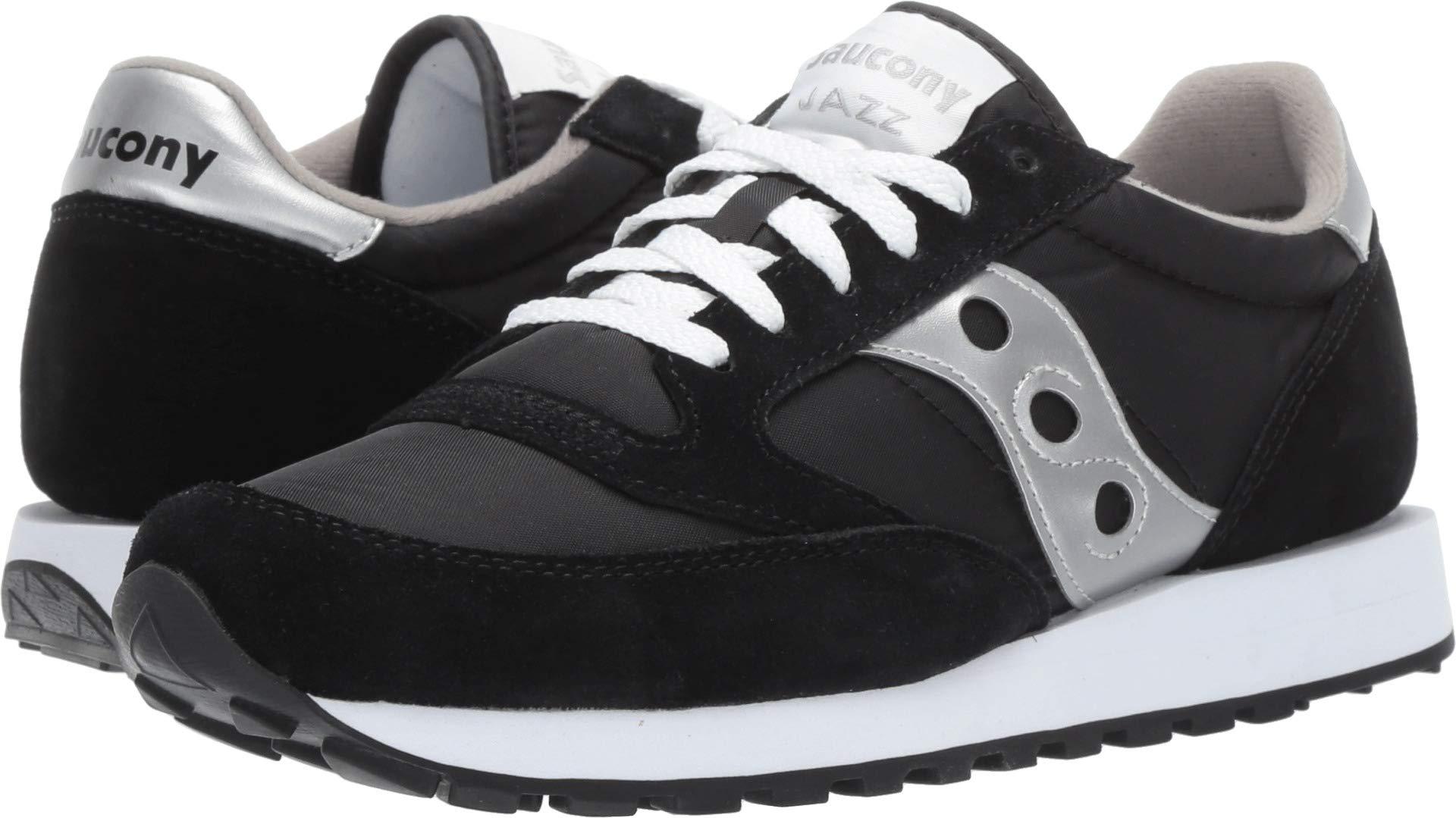 Saucony Originals Men's Jazz Sneaker,Black/Silver,7 M