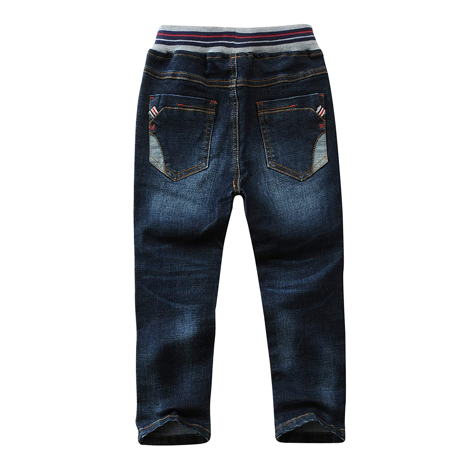 LAPLBEKE Boys Kids Jeans Elasticated Adjustable Waist Denim Pants