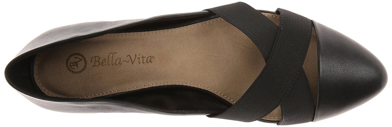 Bella Vita Womens Ophelia Leather Ballet Flat