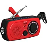 Solar Emergency NOAA Weather Radio – (2018 Radio) Portable Hand Crank Shortwave Radio Am Fm Flashlight SOS Alert Cell Phone Charger 2300mAh Power Bank iPhone/Smart Phone ezbnb