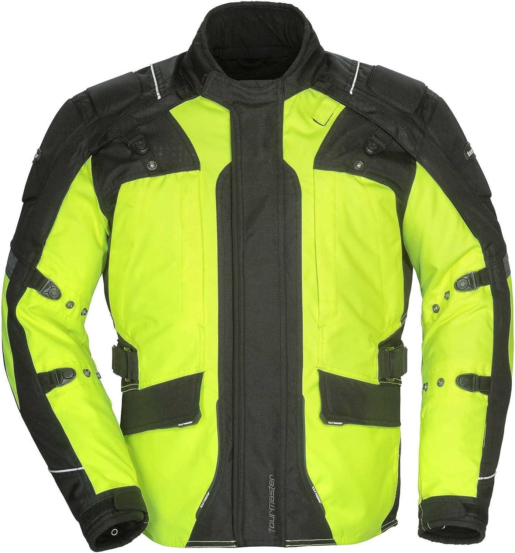 Tourmaster Mens Black Transition Series 5 Textile Motorcycle Jacket 2018