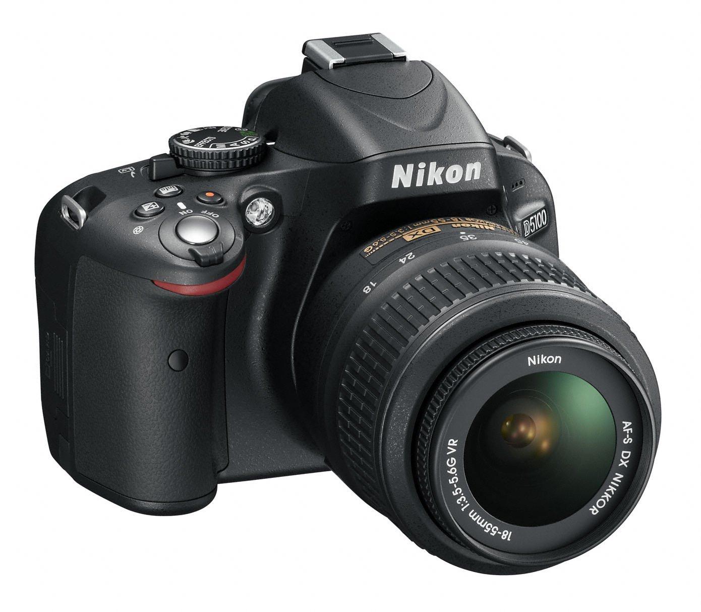 """Nikon D5100 Juego de cámara SLR 16.2MP 1/2.33"""" CMOS 4928 x 3264Pixeles  Negro: Amazon.es: Electrónica"""