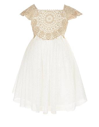 45b22088d Amazon.com: Monsoon Baby Estella Sparkle Dress - Baby-Girls: Clothing