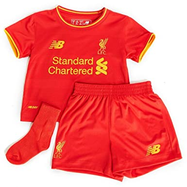 c64bf7a4 Liverpool FC 16/17 Home Baby Football Kit - High Risk Red: Amazon.co ...