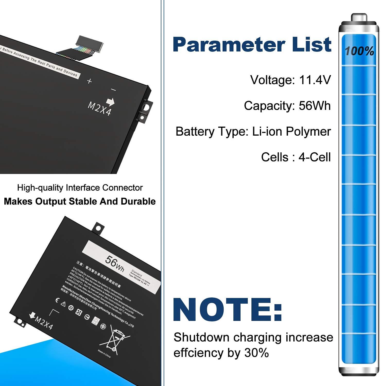ghdonat.com CREATESTAR 11.4V 56Wh RRCGW Laptop Battery Compatible ...