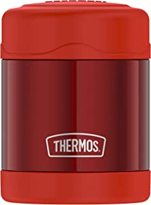THERMOS FUNTAINER Stainless Steel Food Jar, 10 Ounce, Hot Pepper Red