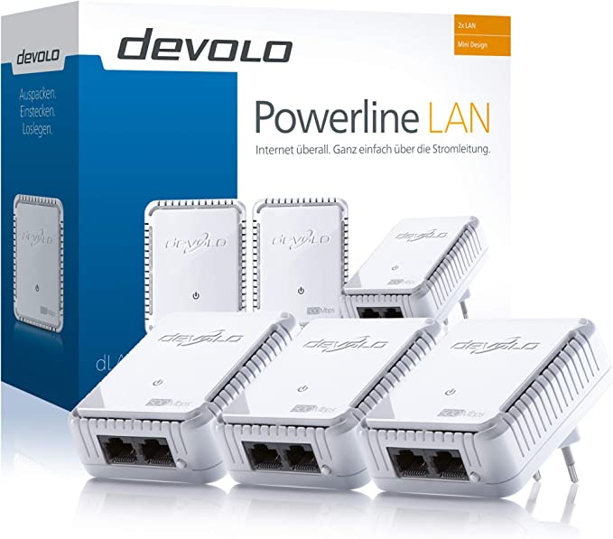 Devolo Dlan 500 Duo Network Kit Powerline 3x Powerlan Computers Accessories