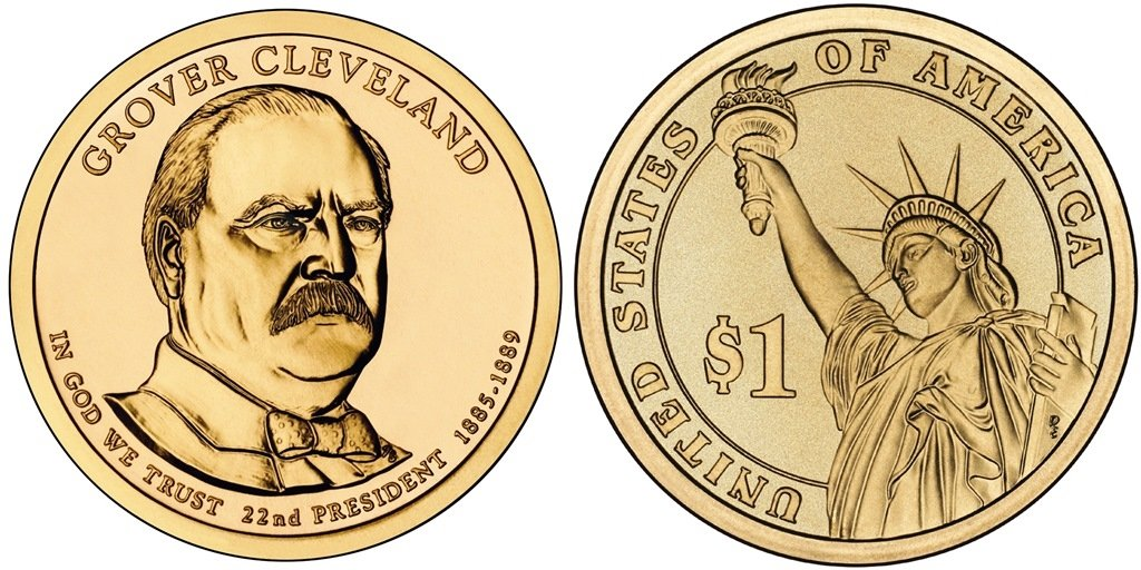 PRESIDENTIAL $25 DOLLAR ROLL 2012 D MINT GROVER CLEVELAND 1st term