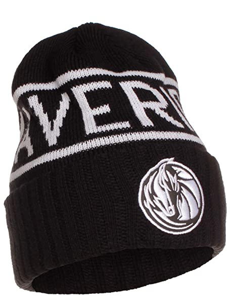 Mitchell   Ness NBA Licensed Winter Beanie Cuffed Knit Skully Hat Cap -  Black  Dallas a122cde1f67