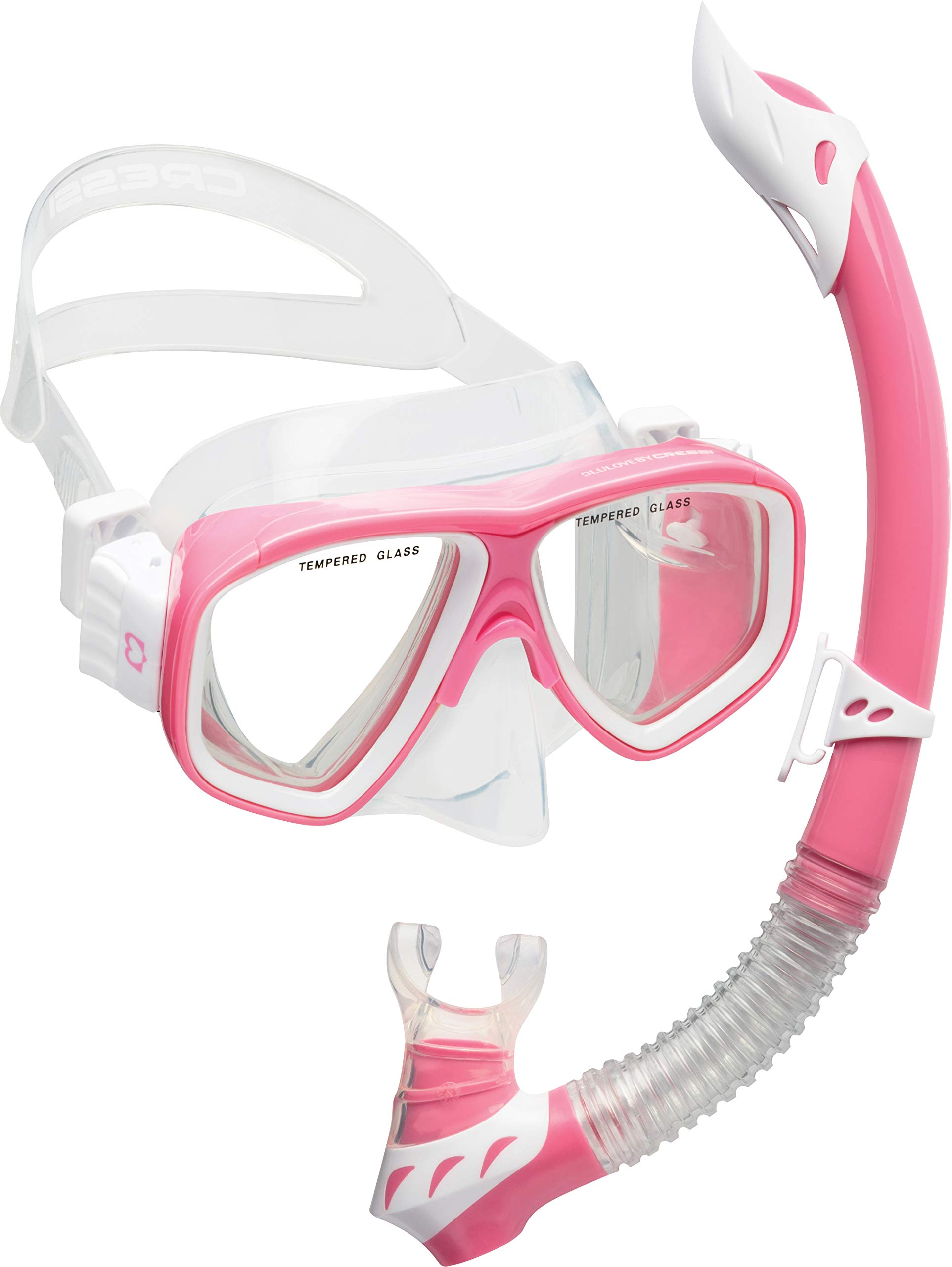 Cressi Kids Snorkeling Kit (Mask & Snorkel) for Children aged from 3 to 8 years old | Rocks Combo: designed in Italy