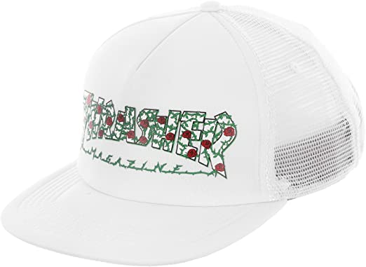 f913cb2adbc Image Unavailable. Image not available for. Color  Thrasher Roses Mesh Hat  - White
