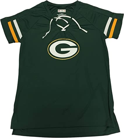 Packers Womens Aaron Rodgers #12 Lace V-Neck Football Jersey Green Large 12//14
