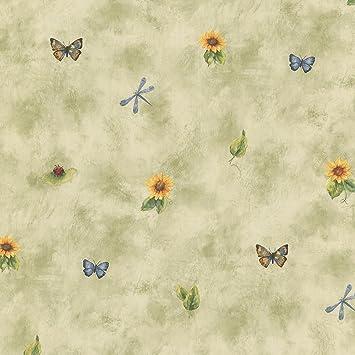Tapete Küche Landhaus Sonnenblume Schmetterling: Amazon.de: Baumarkt