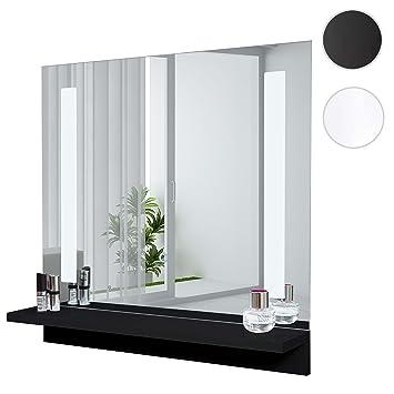 Mendler LED-Wandspiegel mit Ablage HWC-C11, Badspiegel Badezimmer ...