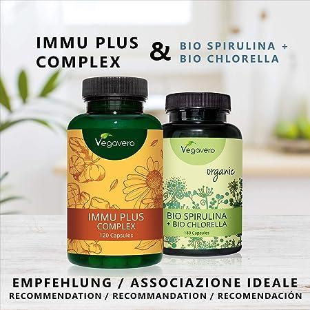 Suplemento Para El Sistema Inmunológico | Equinácea + Acerola (Vitamina C) + Jengibre + D3 + Selenio + Zinc | 120 Cápsulas | Testado en Laboratorio | Vegano ...