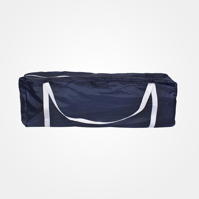 125 x 65 x 76 cm Parc de Jeu pour B/éb/é Bleu ciel//Bleu marine Taille d/éploy/ée: 125 x 76 x 65 cm Mat/ériau: Tissu en nylon Standard CE Domaier Lit Parapluie Pliable