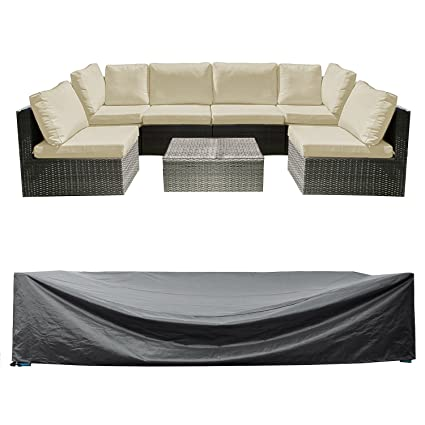 "WOMACO Patio Cover Outdoor Furniture Lounge Porch Sofa Waterproof Dust  Proof Protective Covers (128"" - Amazon.com : WOMACO Patio Cover Outdoor Furniture Lounge Porch Sofa"