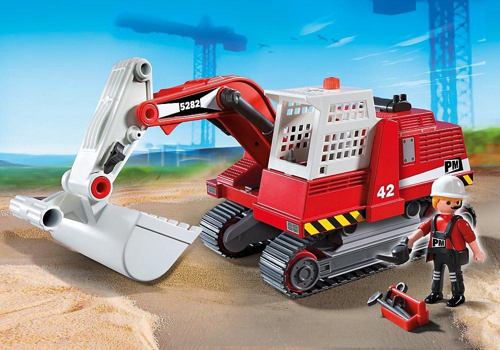 Playmobil  5282  Excavateur et Ouvrier VEULES LES ROSES Station