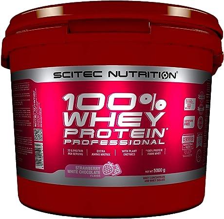 Scitec Nutrition 100% Whey Protein Professional con aminoácidos clave y enzimas digestivas adicionales, 5 kg, Fresa-Chocolate blanco