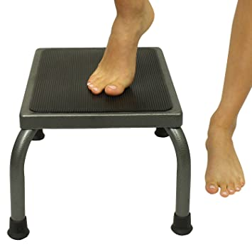 Kitchen Step Stool by Vive - Metal Foot Stool for Bathroom u0026 Kitchen - Heavy Duty  sc 1 st  Amazon.com & Amazon.com: Kitchen Step Stool by Vive - Metal Foot Stool for ... islam-shia.org