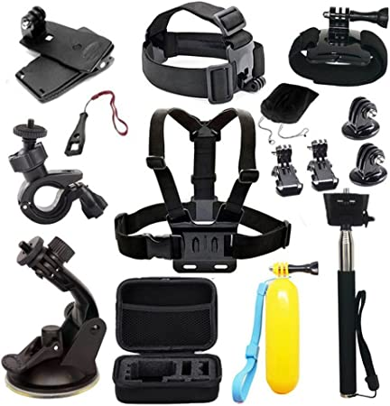 Compatible with The ThiEYE T3 Action Camera Navitech 50-in-1 Action Camera Accessories Combo Kit with EVA Case