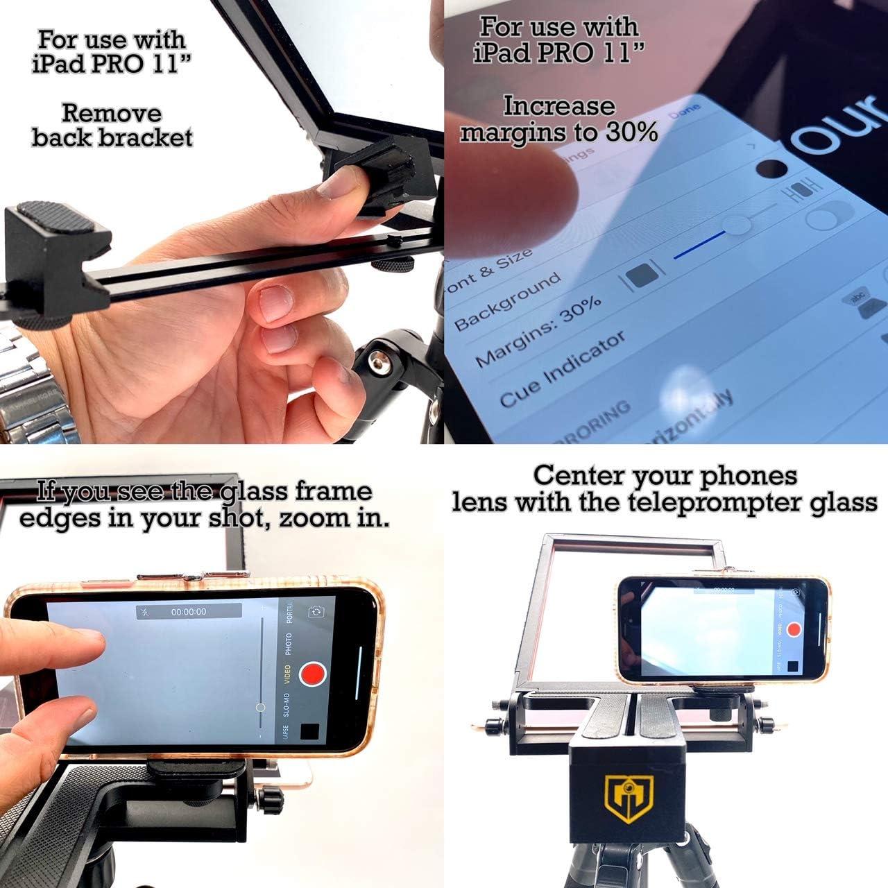 Glide Gear TMP 50 Ajustable Smartphone Mini Teleprompter: Amazon ...