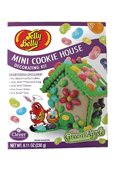 Amazon jelly belly mini cookie house diy do it yourself jelly belly mini cookie house diy do it yourself decorating kit green apple icing solutioingenieria Gallery