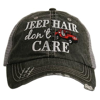 Hats Katydid KDC-TC-161 Red Jeep Hair Don t Care Trucker at Amazon ... 673ce9e19394