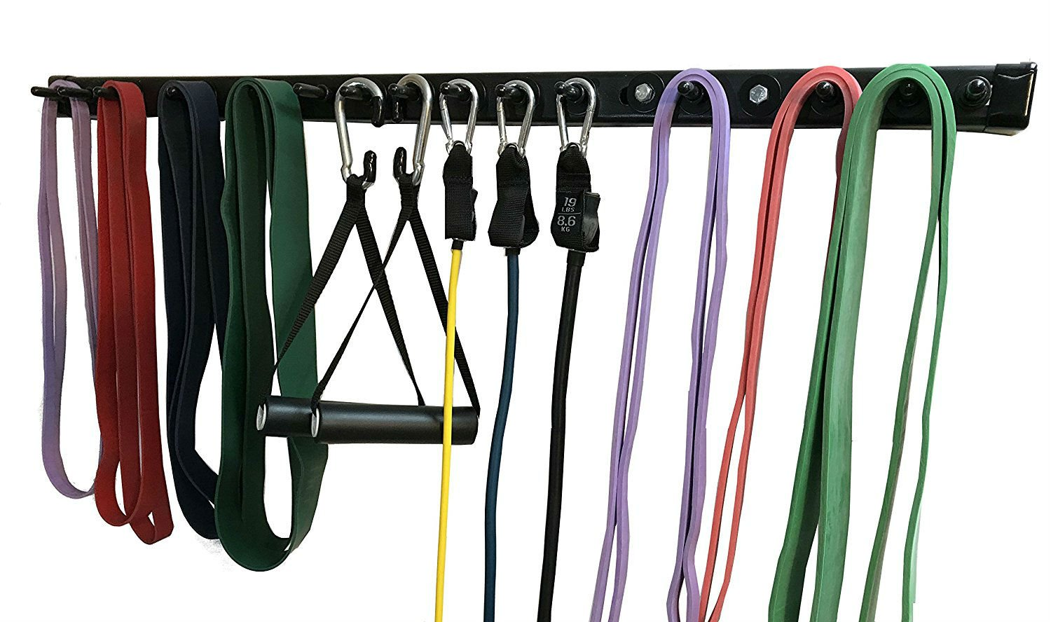 Anazao Fitness Gear New 38'' Storage Rack for Resistance Bands and Resistance Band Accessories (Exercise Bars, Handles, LAT Bar and Other Gear Sold Separately on