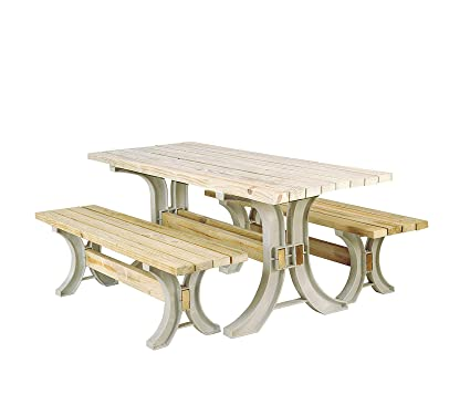 Stupendous Amazon Com Wood Style Patio Outdoor Garden Premium Picnic Dailytribune Chair Design For Home Dailytribuneorg