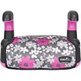 Big Kid No Back Booster Car Seat, 40 - 110 lbs., Pink Flowers