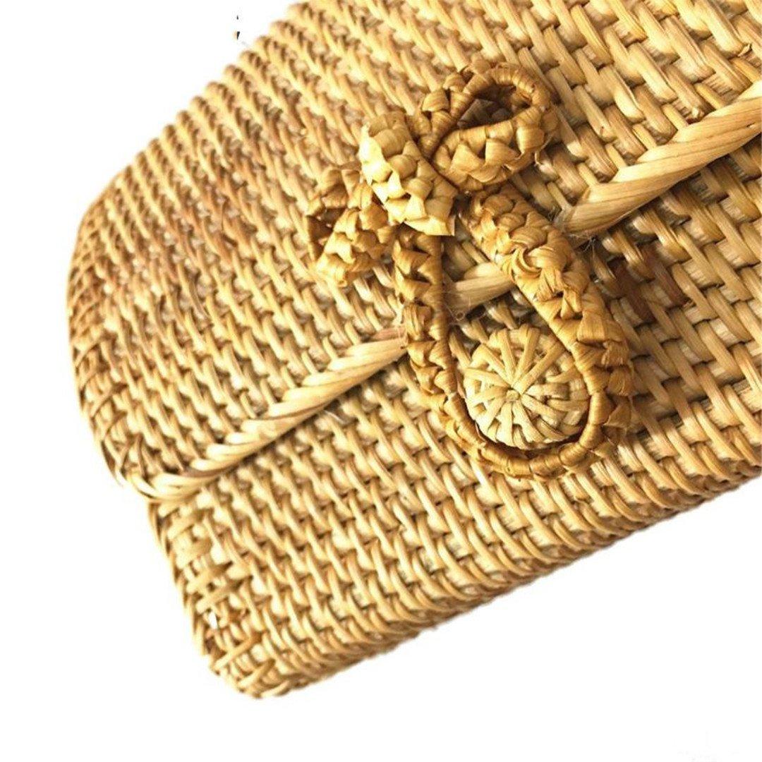 SPWERINGES Frauen Umhängetaschen Vietnam Vietnam Vietnam Rattan Handmade Weave Strohbeutel Sommer Bali Bohemian Beach Travel Gestrickte Bogen Haspe Umhängetasche B07FL3P89L Schultertaschen König der Menge f8a1a1