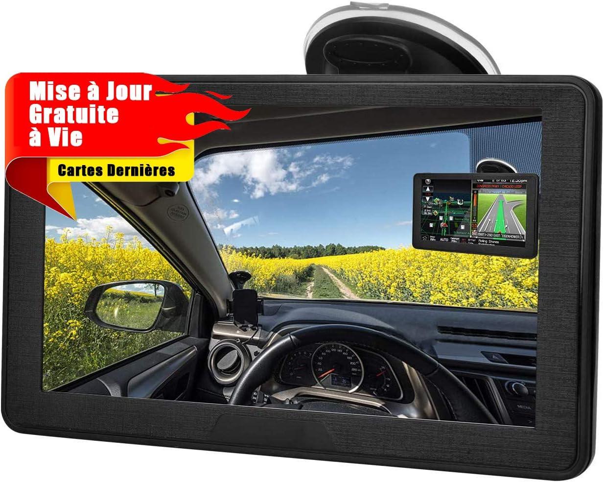 Aonerex 9 GPS Voiture Auto Navigation /Écran Tactile Cartographie Europe 52 Pays Mise /à Jour Gratuite /à Vie Syst/ème en Fran/çais avec Guidage Vocale