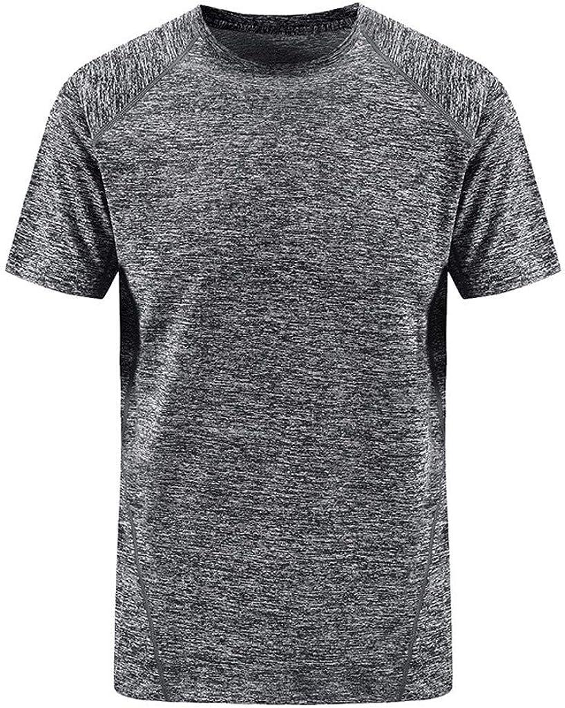 IZHH - Camisa de Verano para Hombre con Cuello Redondo y ...