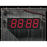 "Red 7-segment clock display - 1.2"" digit height"