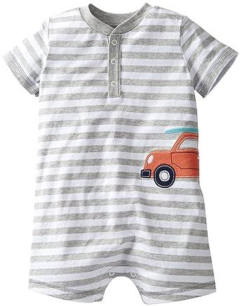 Amazon Com Carter S Baby Boys Jersey Henley Romper Clothing