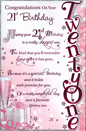 21st birthday card congratulations on your 21st birthday 21st birthday card congratulations on your 21st birthday female design bookmarktalkfo Choice Image