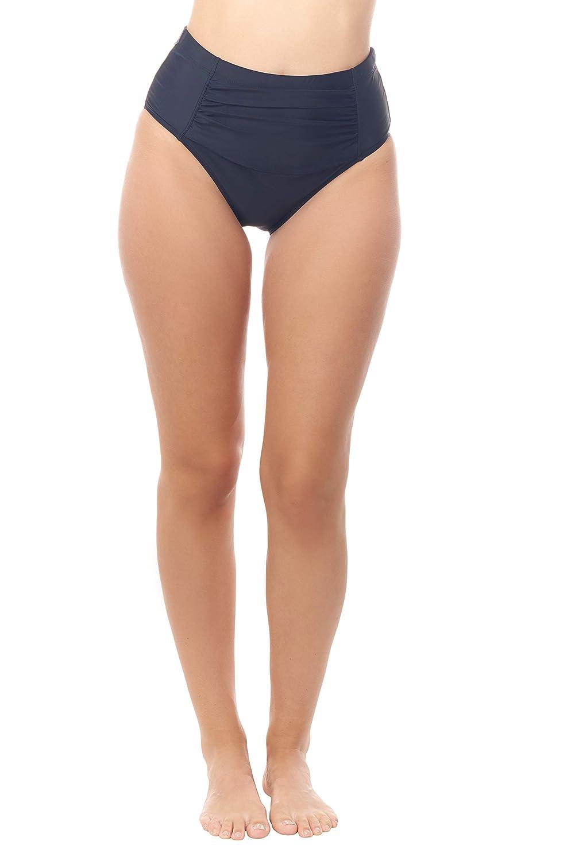 80ce56f80a272 Amazon.com: Love My Curves Ruched High-Waist Swim Suit | Tummy Control  Bikini Bottom: Clothing