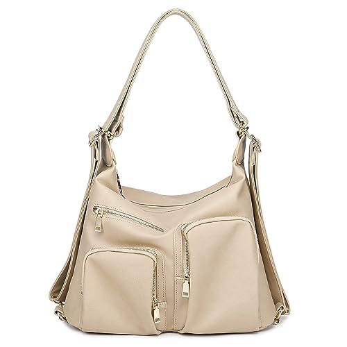 Abshoo Classic Large Womens Purses Pu Leather Handbags Ladies Shoulder Bags  (Apricot) 3ba33c5eff8f