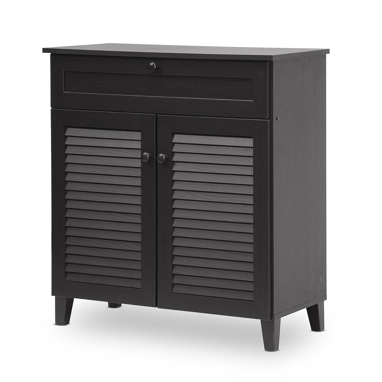 Amazon.com: Baxton Studio Calvin Shoe-Storage Cabinet, Espresso ...