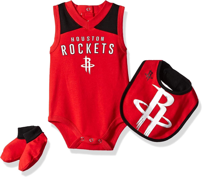 24 Months Red NBA by Outerstuff NBA Newborn /& Infant Houston Rockets Overtime Bodysuit Bib /& Bootie Set