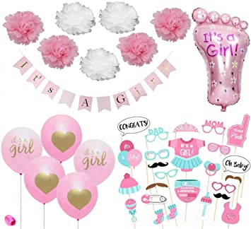 Amazoncom Baby Shower Decorations For Girl Pink And Gold Baby