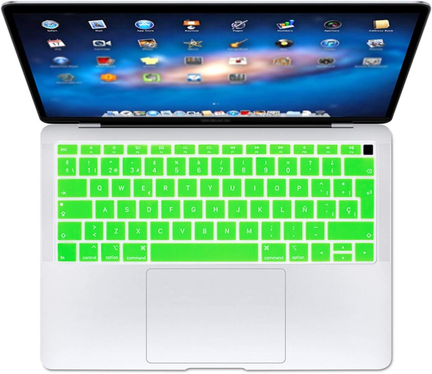 Spanish EU Teclado Keyboard Protector Cover Protective Skin for New MacBook Air 13 13.3 Inch A1932 Touch Fingerprint