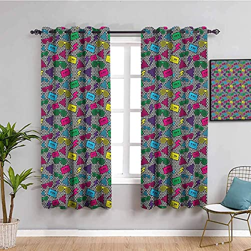 Music Black Out Window Curtain 2 Panel